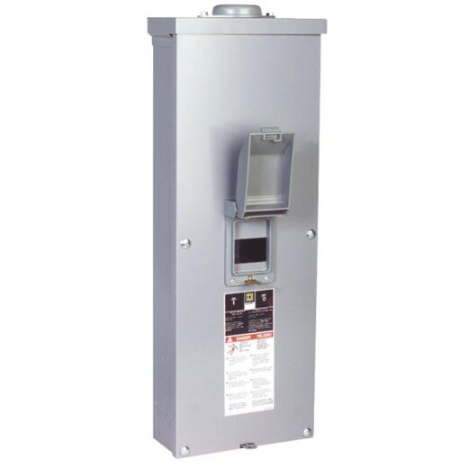 Square D QO 200A Double-Pole Standard Trip Outdoor Enclosed Raintight Main Breaker